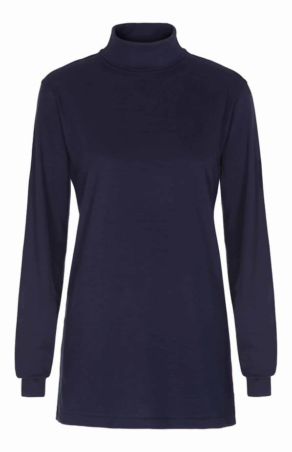 T Shirt Langærmet turtle neck tee Navy Blue
