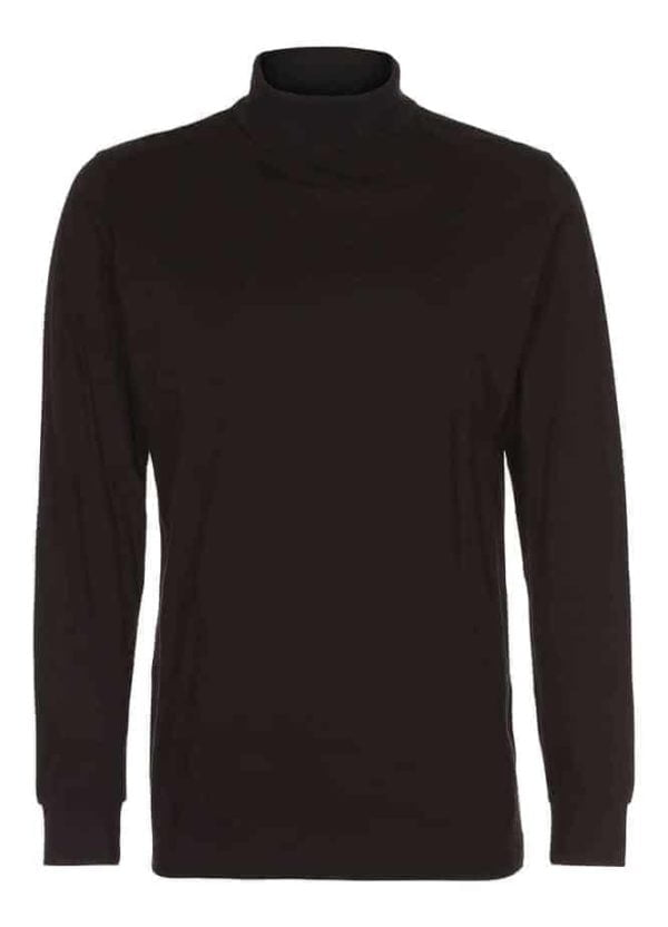 t shirt langærmet turtle neck tee sort
