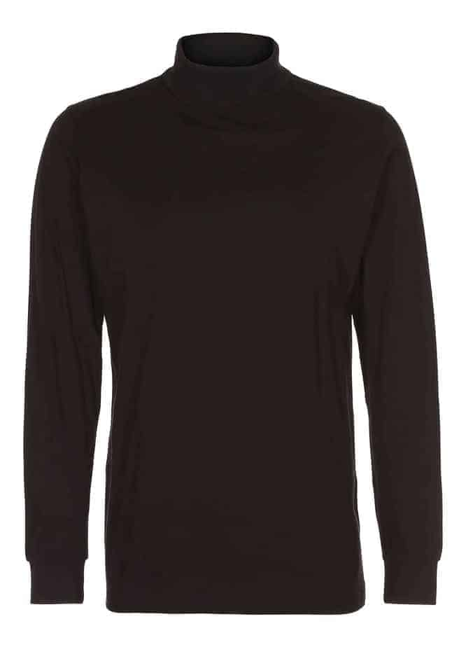 T-shirt-langærmet-turtle-neck-tee-sort