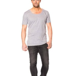 T-shirt - Deep Cut Tee Oxford Grå