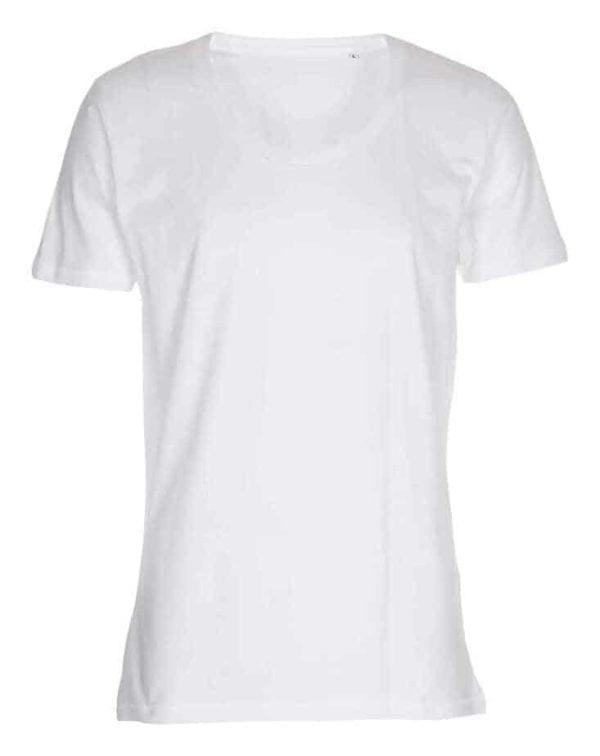 T-shirt - Deep Cut Tee Hvid