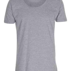 T-shirt-deep-cut-tee-oxford-grå