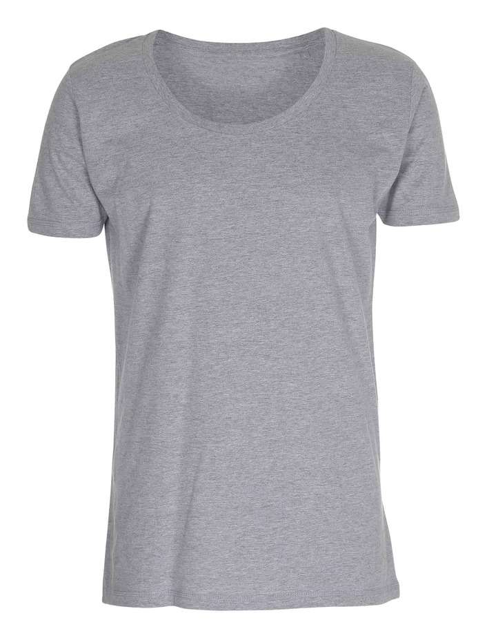T Shirt Deep Cut Tee Oxford Grå