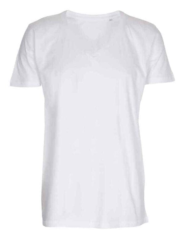 T-shirt-deep-v-neck-hvid
