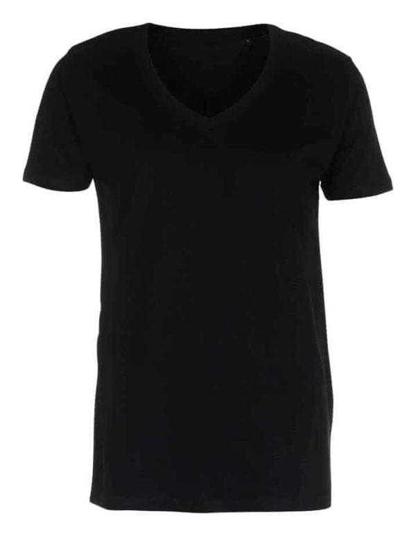 T shirt Deep V neck Sort