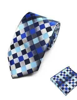 Ternet slips blå og sølv