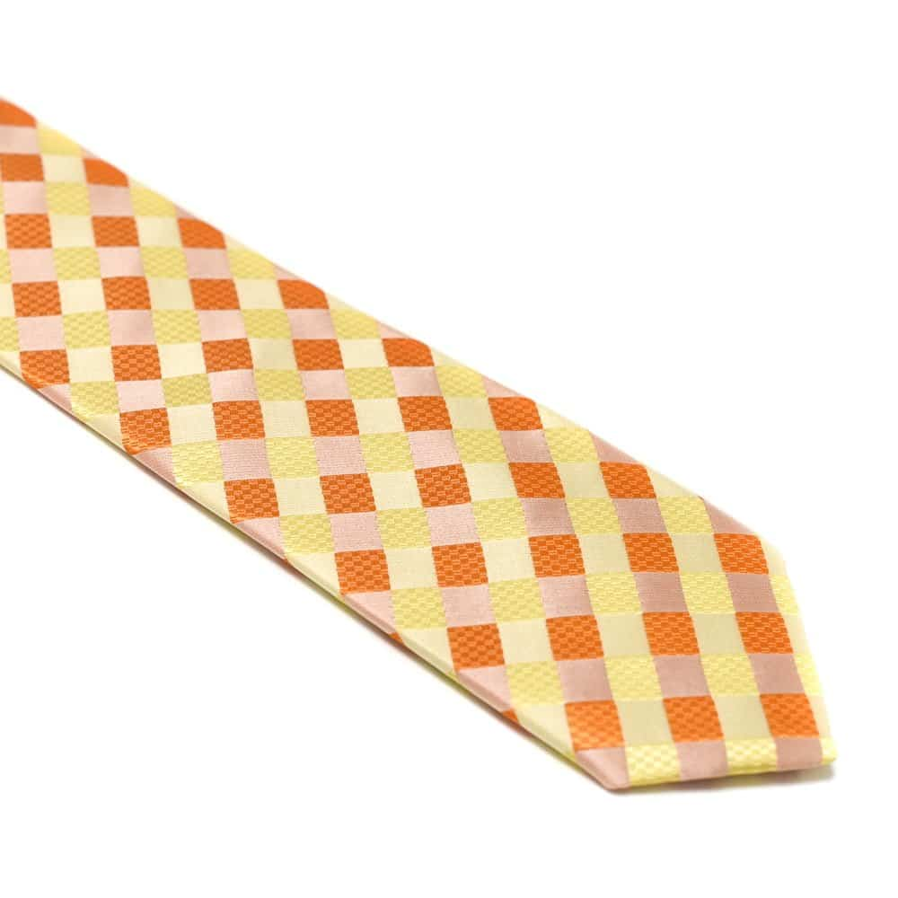 Ternet Orange Lyserød Gult Slips1
