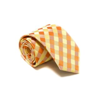 Ternet Orange Lyserød Gult Slips3