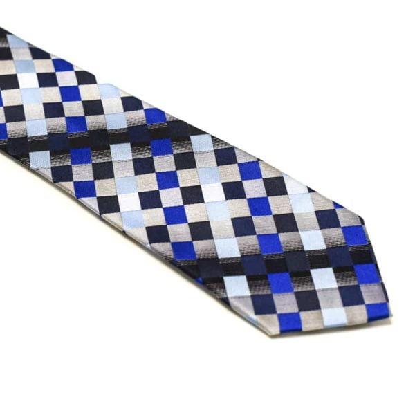 Ternet Slips Med Blå Sølv Grå Lysblå Mørkblå Sort1