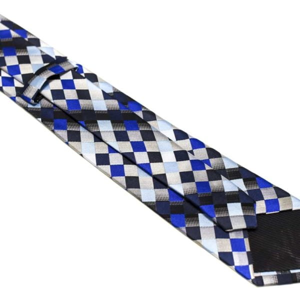 Ternet Slips Med Blå Sølv Grå Lysblå Mørkblå Sort2