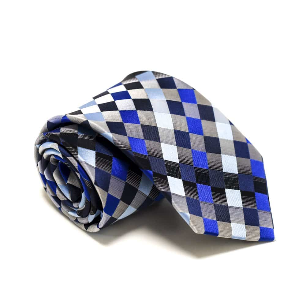 Ternet slips - Blå og sølv