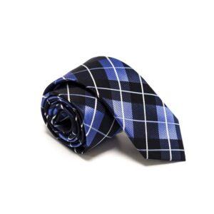 ternet sort slips med blå hvid mønster