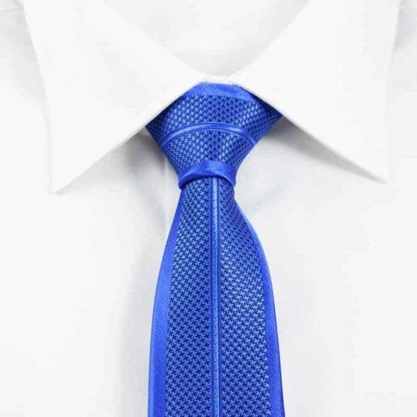 blåt detaljefyldt slips stribet