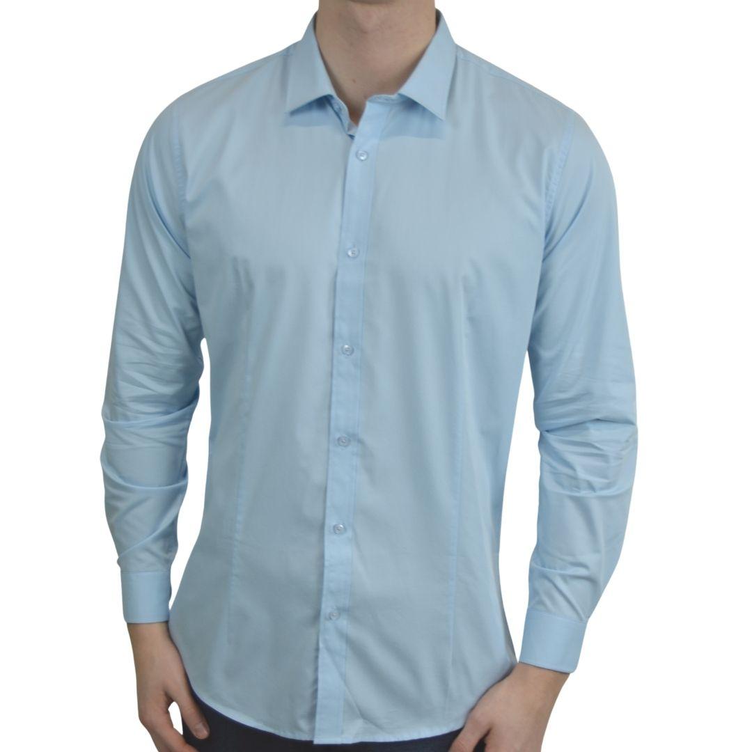Signature - Blå smoking skjorte