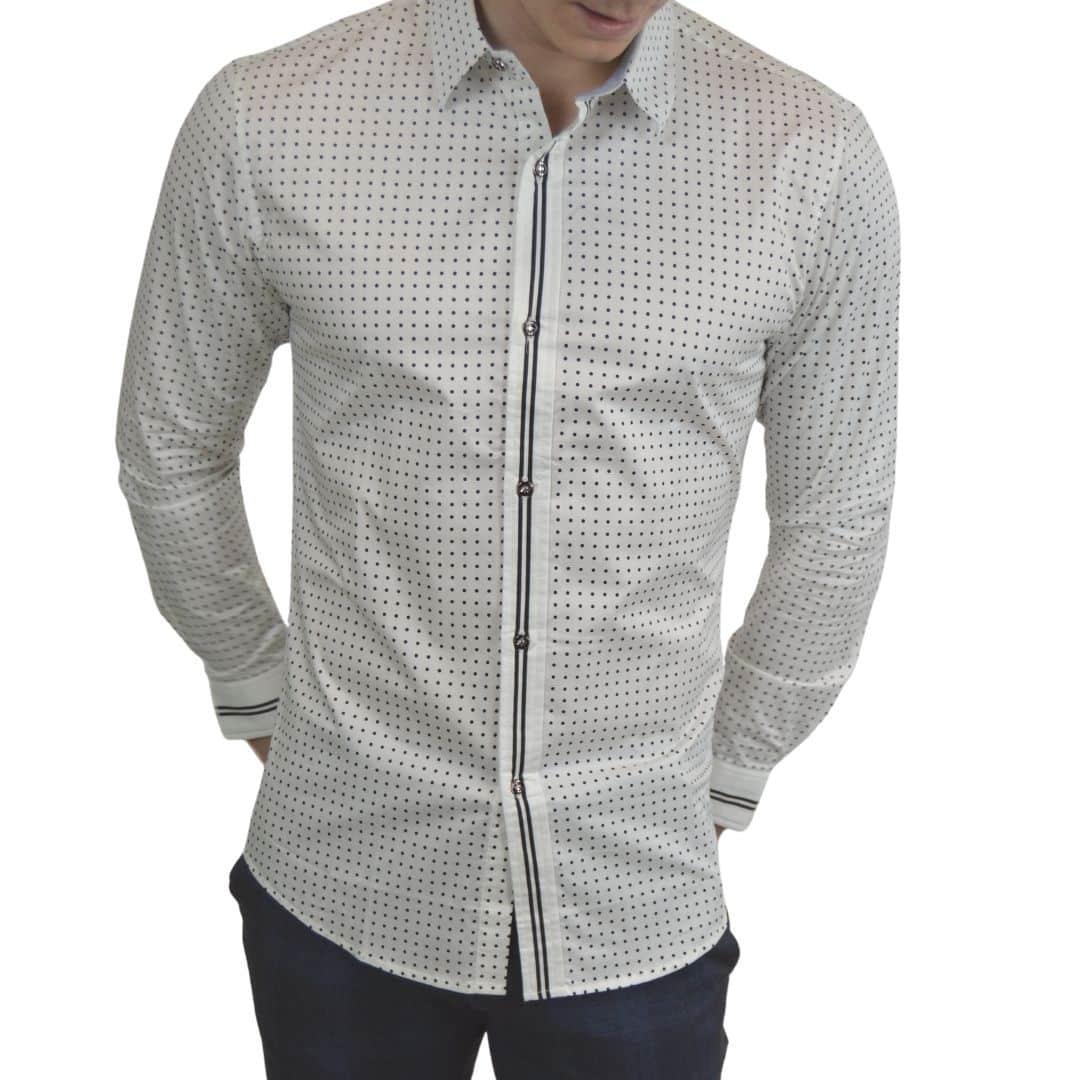 Signature - Hvid Skjorte med prikker