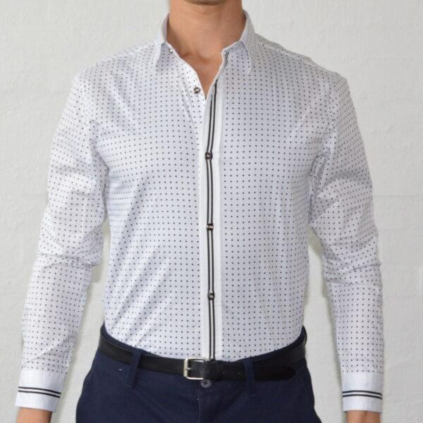 Hvid Skjorte Med Prikker