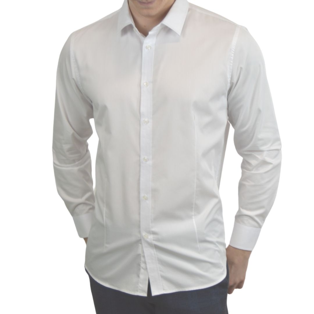Signature - Hvid smoking skjorte
