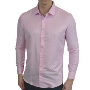 Lyseroed-skjorte-med-tern-classic