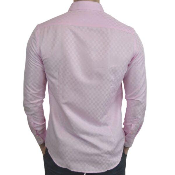 Lyseroed-skjorte-med-tern-modern-fit