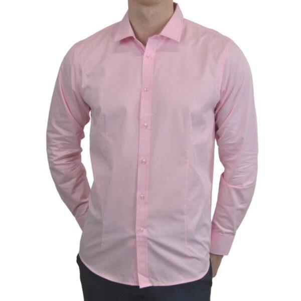 Lyseroed-smoking-skjorte