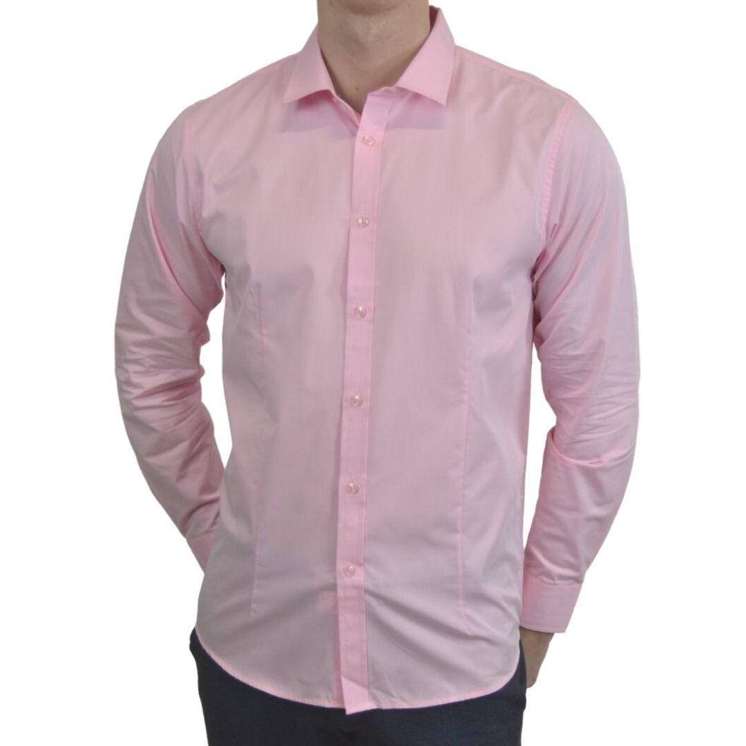 Signature - Lyserød smoking skjorte