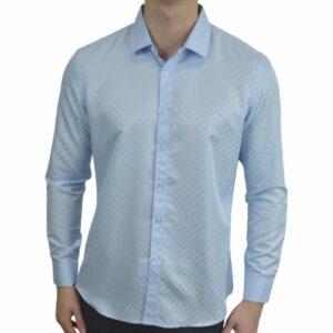 Signature-blaa-skjorte-med-tern
