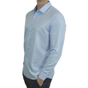 Signature-blaa-skjorte-med-tern-classic