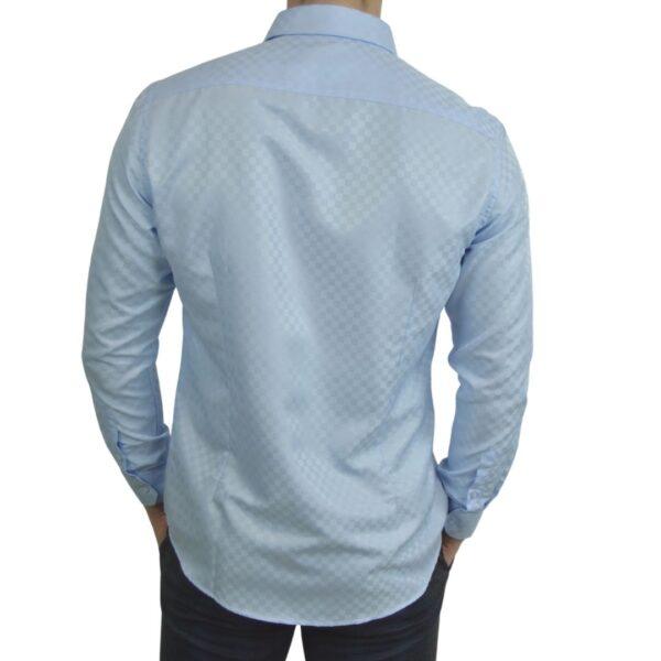 Signature-blaa-skjorte-med-tern-modern