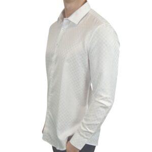 Signature-hvid-skjorte-med-tern-modern