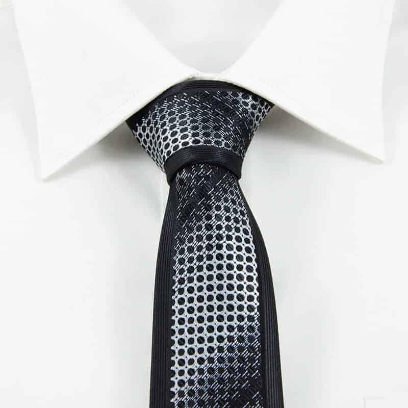 sort og sølv slips 1