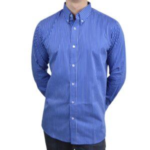 Tailormade-skjorte-blaa-hvid