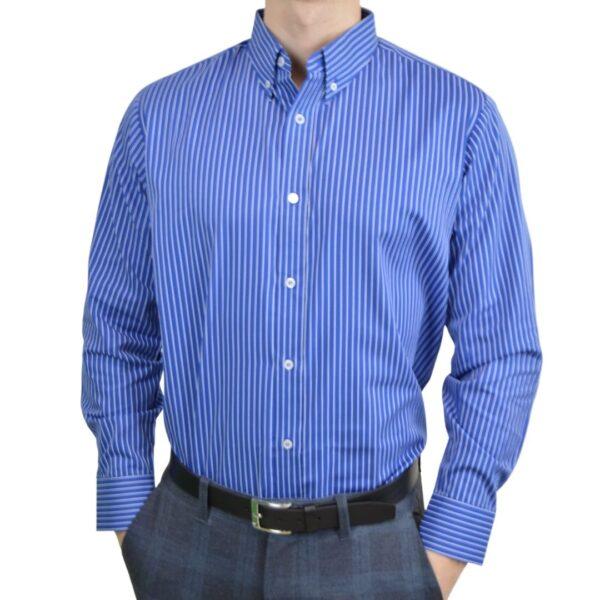 Tailormade-skjorte-blaa-hvid-klassisk