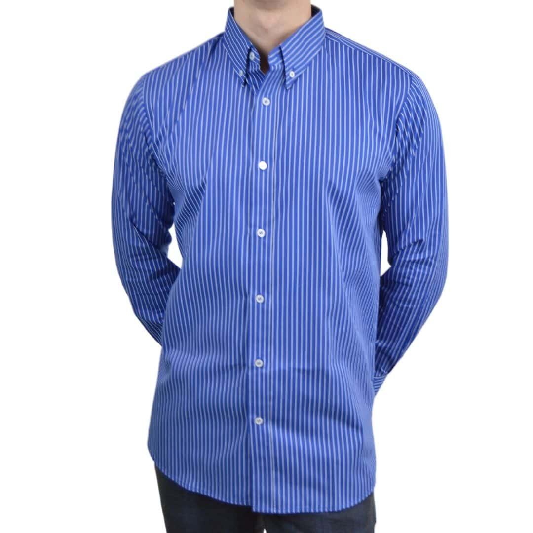 Tailormade - Skjorte blå & hvid