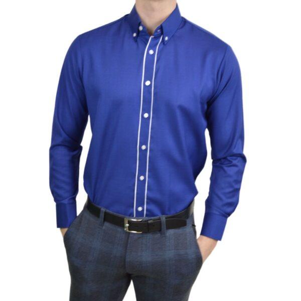 Tailormade-skjorte-blaa-modern-fit