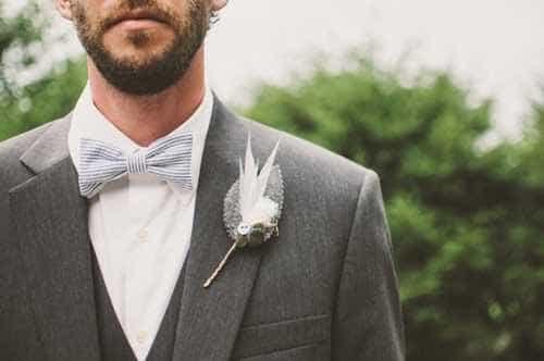 grå butterfly til suit