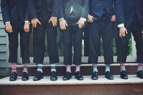 formelle sokker flere på række stribede sokker