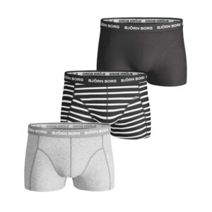 Björn Borg Basic Short Shorts Stripe 3 Pack Small