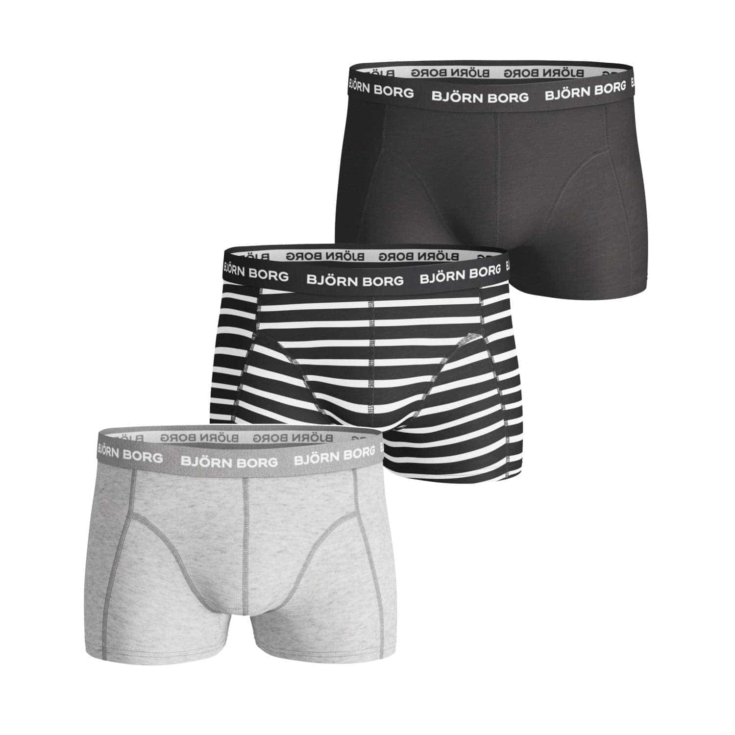 Image of   Björn Borg Basic Short Shorts Stripe 3-Pack Small