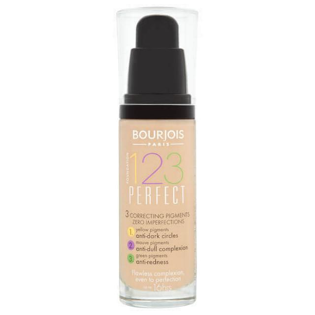 Image of Bourjois 123 Perfect Foundation SPF10 51 Light Vanilla