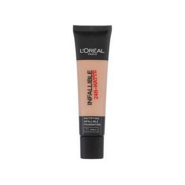 Loréal-paris-infallible-24h-matte-foundation-11-vanilla
