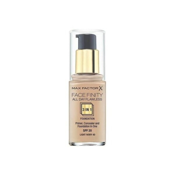 Max Factor Facefinity All Day Flawless 3 In 1 Foundation Spf20 40 Light Ivory