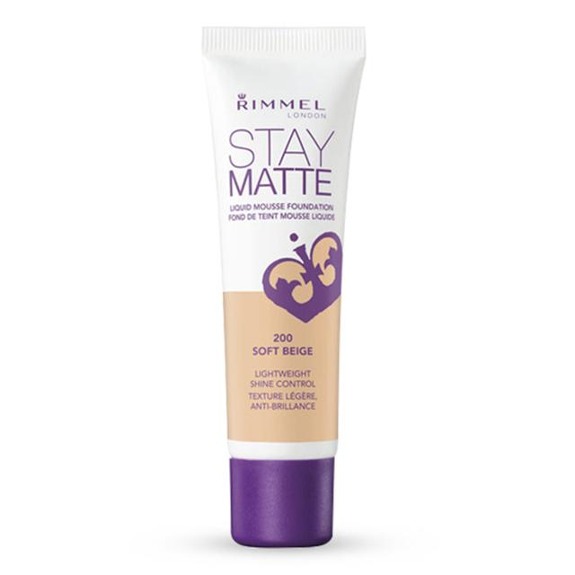Image of   Rimmel Stay Matte Liquid Mousse Foundation 200 Soft Beige