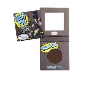 the balm brow pow eyebrow powder dark brown
