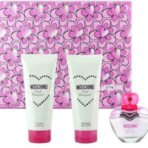 moschino pink bouquet gift set shower gel ml body lotion ml edt ml