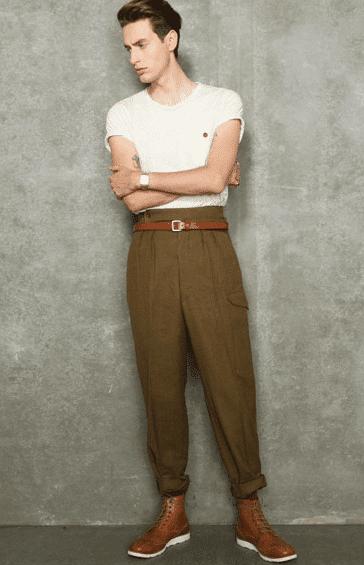 bukser med høj talje