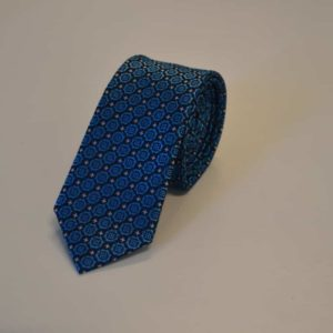 lyseblåt slips stjernemønster