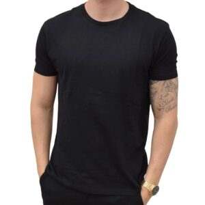 Basic T-shirt Crew Neck Sort