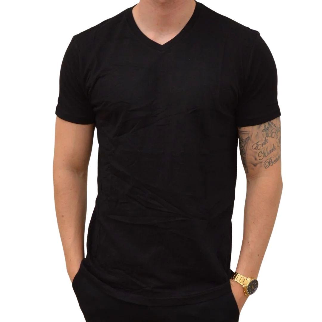 Basic T-shirt V-Neck Sort
