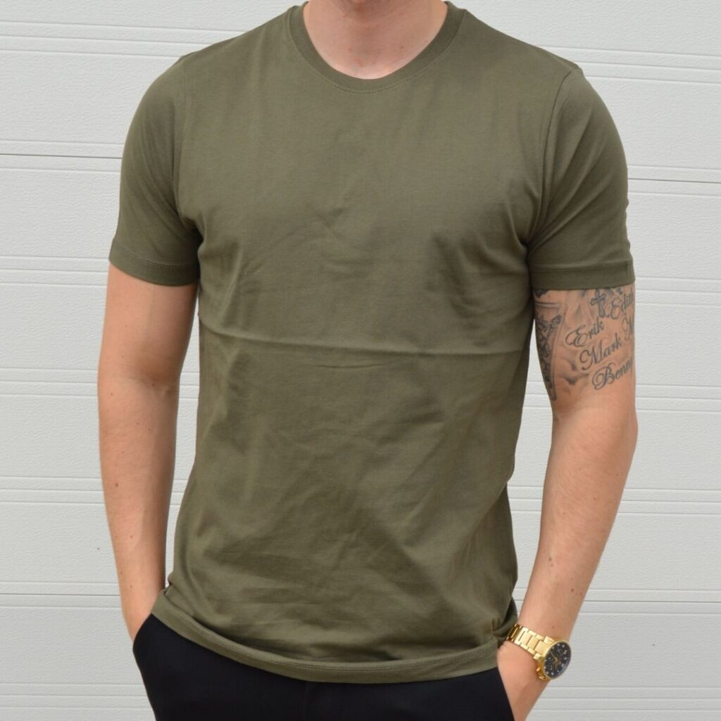 Basic Stretch T Shirt New Army