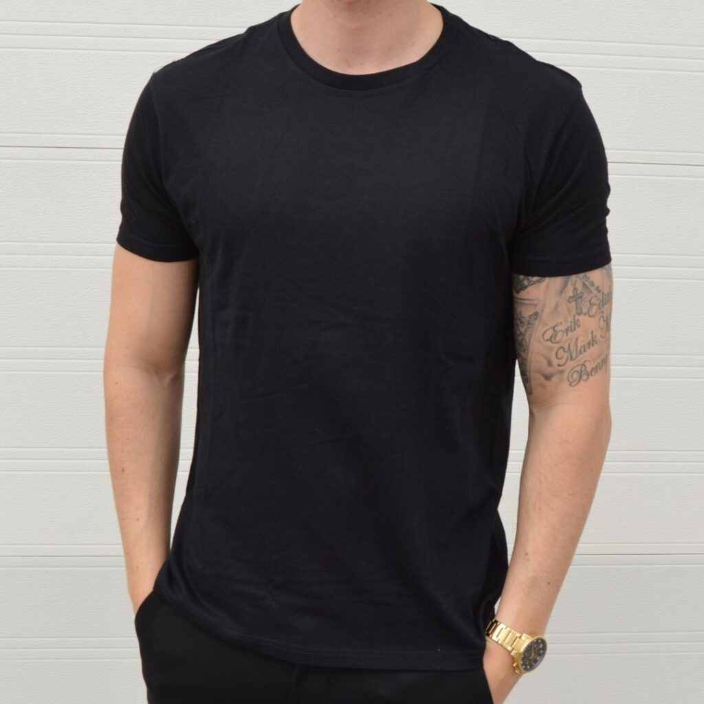Basic T Shirt Crew Neck Sort